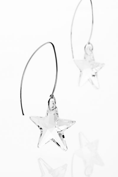 Catch a Shooting Star with 'trail' wires - medium 2.5cm star