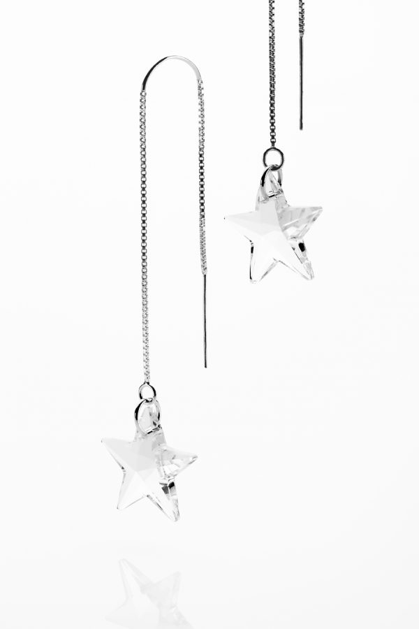 Catch a shooting star earrings with threaders
