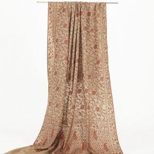 'Marigold & Paisley' Pure Cashmere Jali Shawl