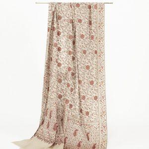'Marigold' Pure Cashmere Jali Shawl