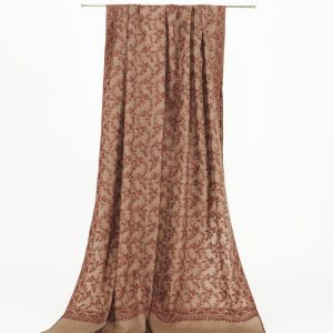 'Indian Climbing Blooms' Pure Cashmere Jali Shawl