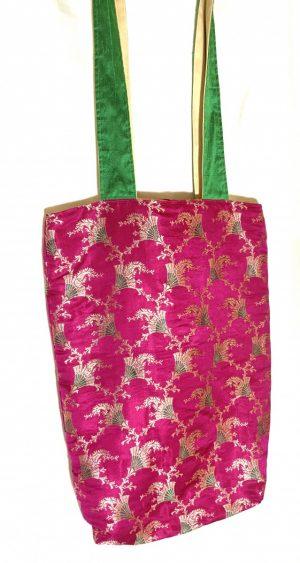 Silk Brocade Tote Bag