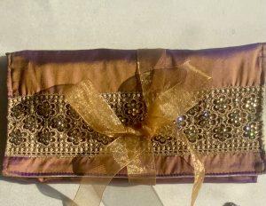 Embellished Silk Jewellery Roll